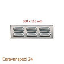 360 x 115mm  Lüftungsgitter Kiemenlüfter Belüftung Aluminium Wohnmobil Wohnwagen