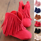 Hot Toddler Infant Moccasin Newborn Baby Girl Shoes Soft Sole Boots