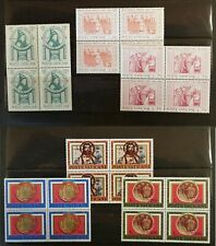 Vatican, nice liitle lot of 6 block-4 MNH stamps, 2 complete sets, VF/XF.