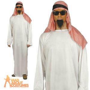 Adult Arab Costume Shiek Sultan Arabian Osama Bin Laden Fancy Dress Outfit Tunic