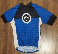 Pearl Izumi Elite Cycling Jersey Mens Half Zip Blue Short Sleeve Size Small