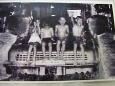 1948 TUCKER  IN CAR WASH WITH KIDS   11 X 17  PHOTO  PICTURE