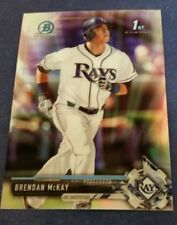 BRENDAN McKAY 2017 BOWMAN CHROME DRAFT BDC-100 TAMPA BAY RAYS (ROOKIE REFRACTOR)