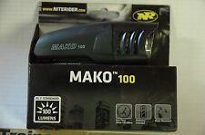 NITE RIDER Mako 100 Black Front LED Headlight - Bike Bicycle Safety Light NEW!