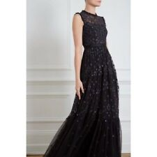 Black Embroidered Needle & Thread Ball Gown, Brand New, Never Worn