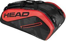Head Tour Team 9R Supercombi Tennis Racquet Racket Bag - Black/Red - Reg $85