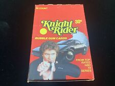 (c)1982 Knight Rider Tv Series 36 Count Wax Box Bubble Gum Cards