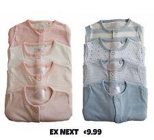 Baby Girls Boys Babygrow Sleepsuits Ne,xt 3 or 4 Pack 100% Cotton Playsuit  NEW