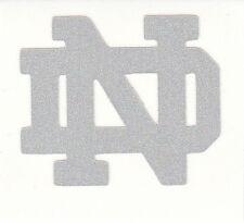 REFLECTIVE Notre Dame Fighting Irish 1.75 inch ND fire helmet decal sticker yeti