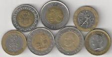 7 BI-METAL COINS from 7 DIFFERENT COUNTRIES (EGYPT to VENEZUELA)