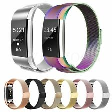 Replacement Wristband Milanese Gel Silicone Watch Band Strap For Fitbit Charge 2