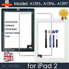 White Screen For iPad 2 Touch Digitizer Replacement Mid Frame Bezel Home Button