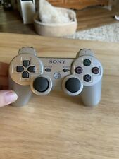 Official OEM Sony PlayStation 3 PS3 Silver Sixaxis DualShock Wireless Controller
