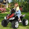 12V Kids Ride On ATV Car Quad Electric Toy 4 Wheeler With LED Headlights