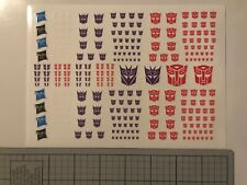 Transformers Dry Rub on logo stickers