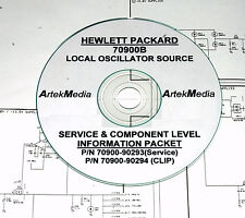 HP Hewlett Packard 70900B Local Osc Service Manual & CLIP (Schematics) 2 Volumes