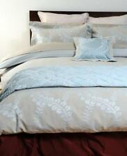Canterbury FONTAINE Aqua Luxury Jacquard KING Quilt Doona Cover Set