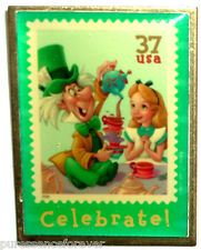 USPS The Art of Disney Stamps: Celebrate! Alice and The Mad Hatter Pin