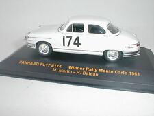 Ixo Model Rac082 Panhard PL 17 N.174 Winner Monte Carlo 1961 Martin-bateau 1 43