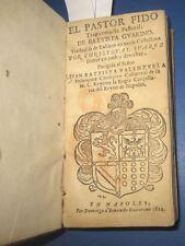 1622 Giovan Battista Guarini, El pastor Fido, Edizione in Spagnolo, Napoli. Raro