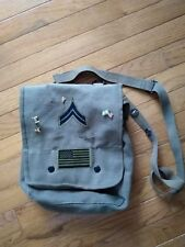 Military Bag With Pins