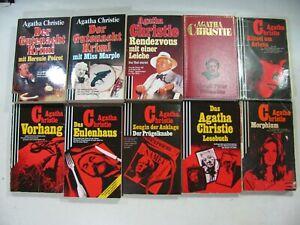 646| Sammlung Agatha Christie 10 Bücher Marple, Poirot ua.