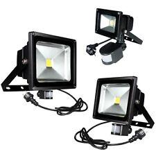 schwarz LED Fluter mit Bewegungsmelder 230V Flutlicht-Strahler Außen Garten Hof
