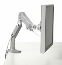 HUMANSCALE M8 ADJUSTABLE SILVER GREY CLAMP ON TABLE MONITOR MOUNT - NEW