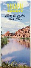 1960's Yavapai County Arizona vintage promotional brochure & map Prescott b