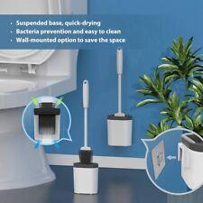 NEW Revolutionary Silicone Flex Toilet Brush And Holder 2020 Set O8Q5