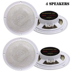 Lot of 4 Pyramid MDC6 5.25 100 Watt Marine Dual Cone Waterproof Speakers