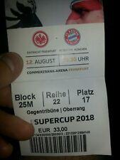 Sammler Used Ticket Eintracht Frankfurt vs FC Bayern München Supercup 18 SGE FCB