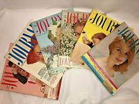 Vtg Lot of 6 Ladies Home Journal Magazines 1958 February, 1959 OLD Advertising