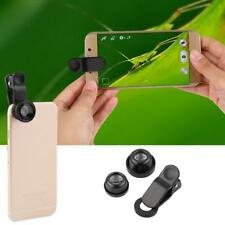 3 en 1 Universal Black Fish eye Grand Angle Macro Clip Lens Set Pour iPhone iPad
