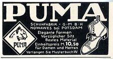 Schuhfabrik Nowawes bei Potsdam Puma Schuhe und Stiefel  Klassische Annonce 1913