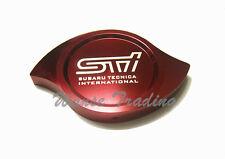 CNC Billet Aluminum STI Car Radiator Protection Cap Cover Red For SUBARU WRX SV