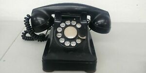 1940's Western Electric Bell Systems F1 Bakelite Rotary Dial Desk Telephone #2