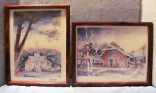 Lot 2: Watercolor Framed Prints by Chris Flagg -- Framed and Numbered