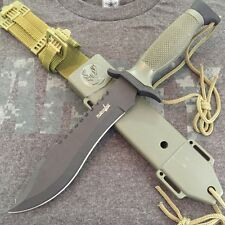 "12"" TACTICAL BOWIE SURVIVAL HUNTING KNIFE SHEATH MILITARY Combat Fixed Blade"