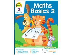 Educational Children Book Maths Basics 3 Activity School Zone Kids