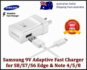 New Samsung Galaxy Fast AC Wall Charger S6 S7 S8 S9 S10 S20+ NOTE 4 5 8 9
