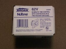 Broan Nutone 62V  Ivory 60-Minute Time Control & Double Rocker Switch New