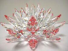 LOTUS CRYSTAL FLOWER CLEAR PETALS REFLECT PINK CENTER 2014 SWAROVSKI #5100663