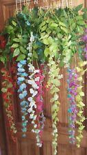 Joblot of 24 Wisteria vine Flower Trailing Garland Decorations new wholesale