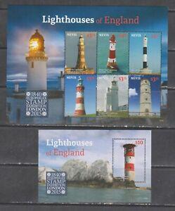 Nevis 2015 lighthouses England klb+s/s MNH
