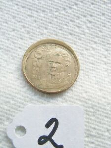 20 ERROR COIN  PESOS GUADALUPE  VICTORIA 1988 FROM MEXICO. READ BEFORE BUY