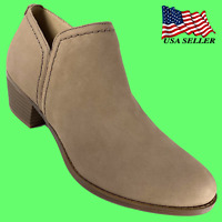 Naturalizer Women's  ZARIE Ankle Boots Taupe Leather US Size 9 M