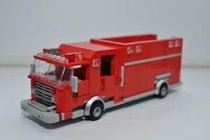 LEGO Fire Truck Rescue 1 Rescue 2 Emergency 911 EMS Red Custom Built Model