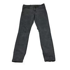 Billabong Womens Jeans Size 10 Black Skinny Mid Rise Faded Denim