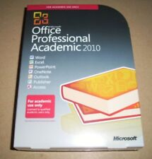 Microsoft Office Professional Pro 2010 Academic NEW sealed T6D-00123 Full VER